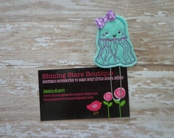 Planner Accessories - Mint Green And Purple Summer Jellyfish Paper Clip Or Bookmark - Ocean Accessory For Planners, Calendars, Or Book