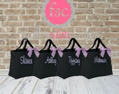 4 personalized wedding tote bags , Bridesmaids Gift, Wedding Party Gift, Bridal Party Gift, Monogrammed Tote, bridesmaid tote bags