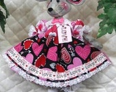 """Primitive Raggedy 16"""" Valentine's Day Mouse Doll~So Sweet!"""