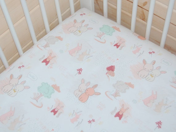 items similar to bunny baby bedding mint crib sheet mint bunny crib bedding mini crib sheet