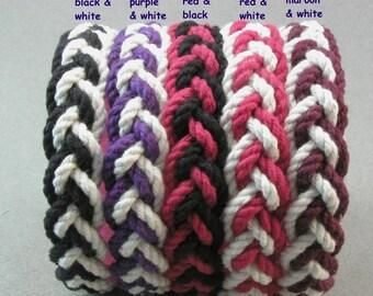 club color Red series rope bracelets - package of 5 bracelets   -   item 3832