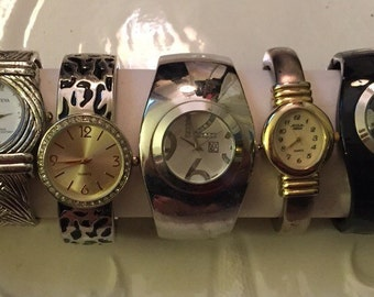 Wrist watch lot Acqua Studio! Geneva NY & Co Clamp Watch lot