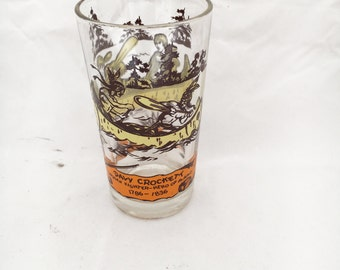 Davy Crockett - King of the wild frontier - vintage juice glass