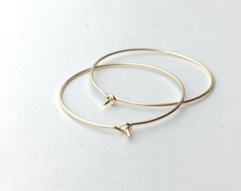 14K Gold Filled Hoop Earrings. Yellow or Pink Gold. Choose your size 2, 1.5 or 1 Inch