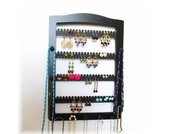 Earring Holder , JEWELRY HOLDER , Jewelry Storage , Jewelry Display ,  Earring Storage , Necklace Holder , 11 pegs