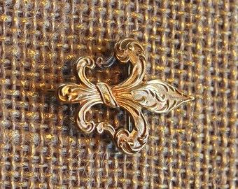 Fleur De Lis Turn of the Century Watch Pin