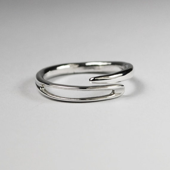 Solid sterling silver embroidery needle ring