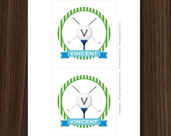 Golf Cake Topper, Golf Dessert Topper, Golf Printable, 4x4 Inch Party Circles, Golf Print