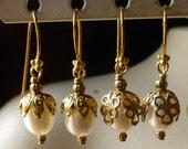 Pearl Earrings Freshwater Pearl Drops with Vermeil Earwires FWP101