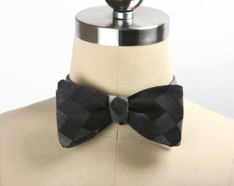 Free Style Bow Tie, Men's Bow Tie, Formal Bow Tie, Men's Accessories, Adjustable Bow Tie, Gradient Diamond Self Tie Bow Tie, Hipster Bow Tie