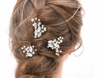 Wedding Hair Pins Rhinestone Hair Jewelry, Bridal Beaded Hair Pins Decorative Wedding Hair Accessories
