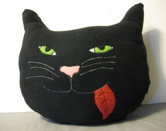 Happy Cat Fleece Novelty Pillow- made-to-order