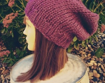 Womens Slouchy Beanie Hat Womens Slouch Hat Slouch Beanie Chunky Knit Beanie Knit Slouchy Hat Chunky Knit Hat Womens Winter Hat