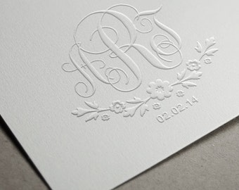 Custom Embosser Stamp   Embossing Stamp   Custom Embosser   Custom Wedding Stamp   Personalized Stamp   Letterpress Wedding Invitation