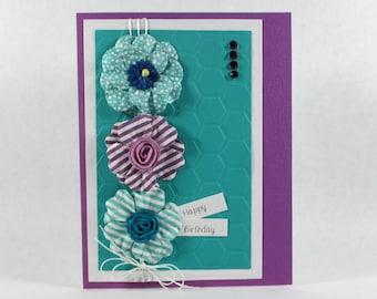 Birthday cards, happy birthday, embossed birthday cards, feminine birthday, elegant birthday