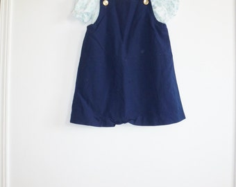 Vintage Navy Dress and Shirt Outfit