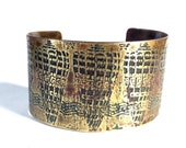 Etched Brass Cuff Sea Shells
