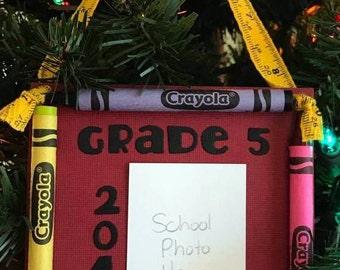 2016 Grade 5 Crayon Keepsake School Photo Ornament