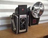 RESERVED 1940's Kodak Duaflex III TLR Camera with Kodak Rotary Flash