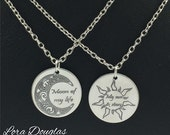 Moon of My Life, My Sun and Stars, Game of Thrones, hypoallergenic jewelry, Necklace, Long Necklace, Mens Necklace, Mens Jewelry