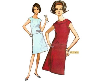 1960s Two Piece Dress Pattern McCalls 8030 Uncut Vintage Sewing Pattern Bust 31 32