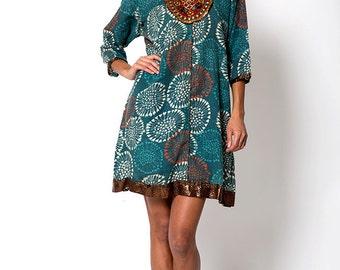The Vintage Tribal Aztec Indian Tunic Shirt Dress