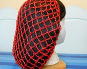 Metallic Red/Gold Snood Hair Net - Vintage Thread - Limited Supply