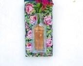 Bud Vase Wall Mosaic Pink Roses