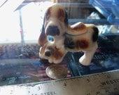 vintage dog figurine ceramic hound mom and pup