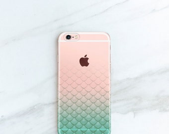 Mermaid iPhone Case Scales iPhone 6s, 6, Plus, Gift For Her, iPhone 7, Plus Case Mermaid Phone Cases