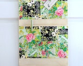 Wall or Door Hanging Organizer in a Multi Pocket Patchwork Design