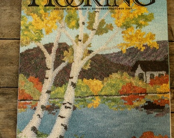 Rug Hooking Magazines and American Primitive Hooked Rugs Autographed Book Lot