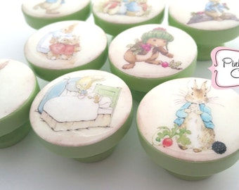 PETER RABBIT ANIMALS knobs M2M bedding Kids Nursery drawer pulls ... so cute!