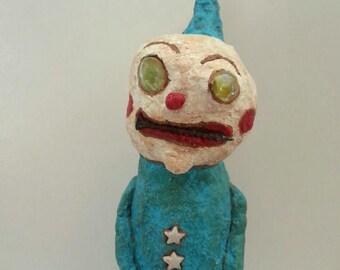 Lost Your Marbles Primitive Folk Oustsider Art Clown Art Doll