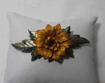 Vintage Fall Flower Brooch