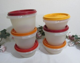 Tupperware Bowls Set of 6 with Servalier Lids in Different Colors