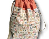 """Tiny Socks - """"One Skein"""" Small Project Bag for Knitting, Crochet, or Needlework"""