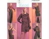 Womens Sewing Pattern Dolman Sleeve Jacket, Sleeveless Dress, Blouse, High Waist Pants Butterick 5256 Trousers Size 14 to 22 UNCUT