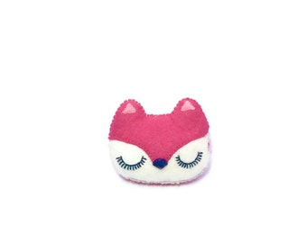 Fox Brooch - Animal Accessory- Woodland Pin - Fox Pin - Pink Fox - Woodland Jewellery - Animal Pins
