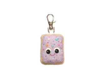 Pop Tart Keychain - Cute Bag Charm - Toaster Pastry Plush  - Toaster Pastry Charm - Kawaii Plush -  Bag Charm - Cute Bag Charms