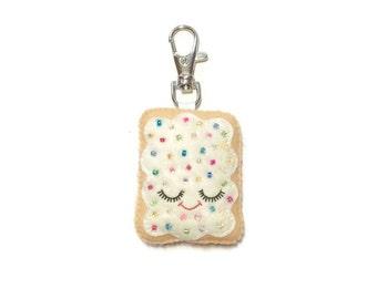Pop Tart Keychain - Cute Bag Charm - Toaster Pastry Plush  - Toaster Pastry Charm - Kawaii Plush -  Bag Charm - Cute Bag Charms