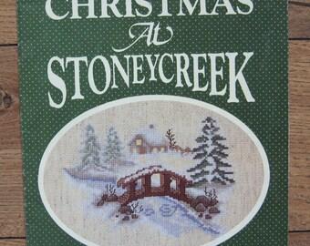 vintage 80s cross stitch patterns Christmas At Stoneycreek book 5