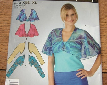 2005 simplicity pattern 4323 misses capelet and shrug sz XXS-XL uncut