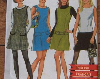 new loook pattern 6580 misses dresses jumper drop-waist sz 6-16 uncut