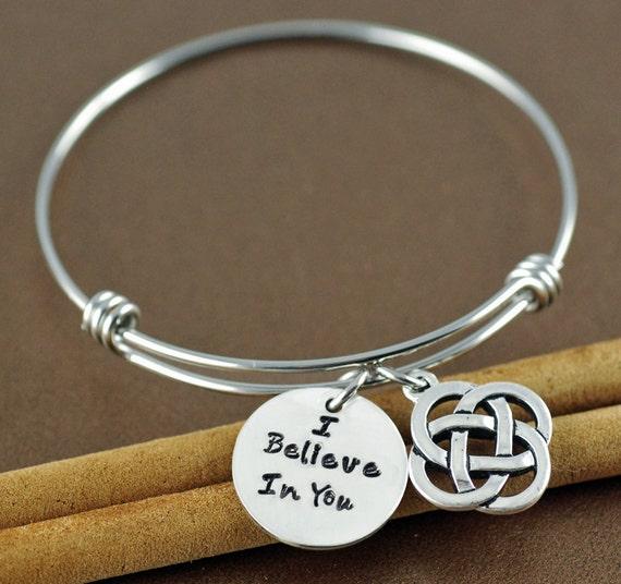 Inspirational Charm Bracelets: I Believe In You Bracelet Inspirational Bracelet