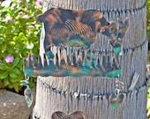 Goat Garden Stake / Copper / Metal Yard Art / Barnyard / Farm Animal / Handmade / Home Decor / Outdoor Decoration / Patina Finish
