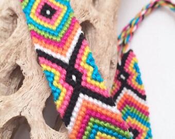 Evil eye friendship bracelet in bright colors