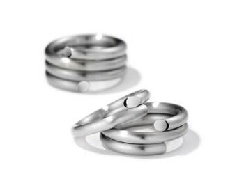 Spiral Loop Ring in Stainless Steel