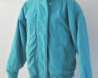 Vintage Woolrich Womans Winter Jacket Coat Cozy Comfy Ski Winter light teal