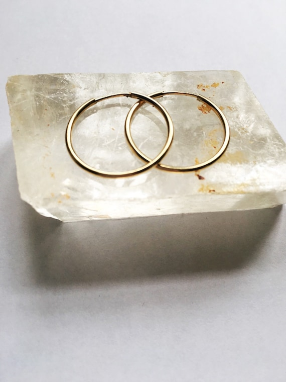 Gold fill 20mm hoop earrings